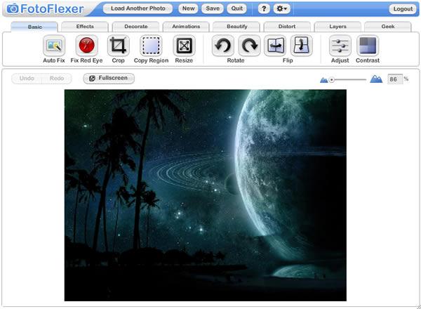 modifica foto: fotoflexer