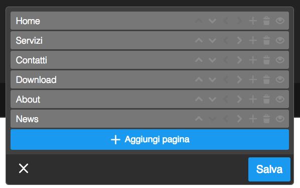 modifica menu navigazione