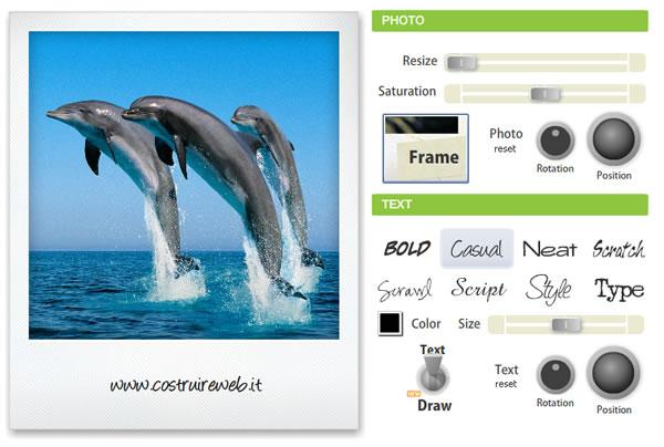 programma per modificare foto online: photonotes