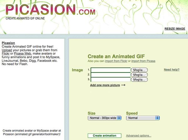 programmi per modificare foto: picasion