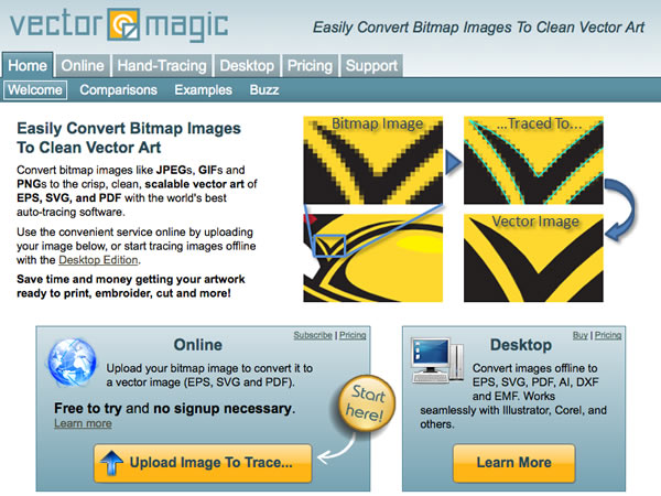 programmi per modificare foto: vectormagic