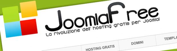 joomlafree hosting per creare sito gratis con joomla