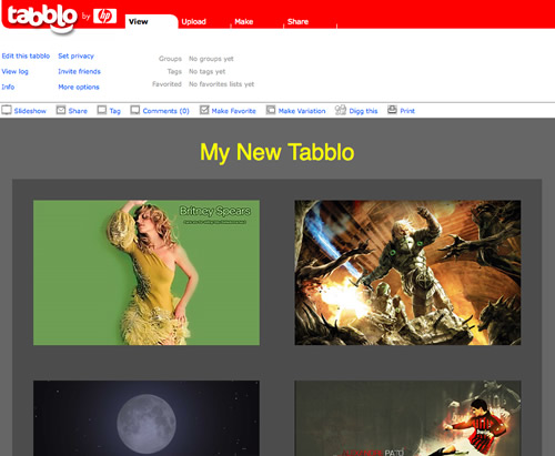 tabblo album di foto online