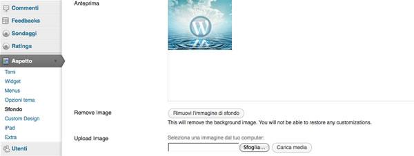 come fare un sito - modifica sfondo