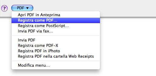 stampante pdf mac